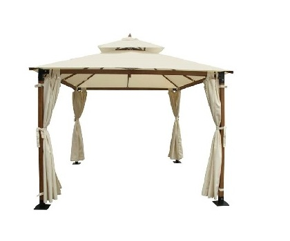 Garden Fiber Glass 3 3m X 3 3m Gazebo Irony Home Hong
